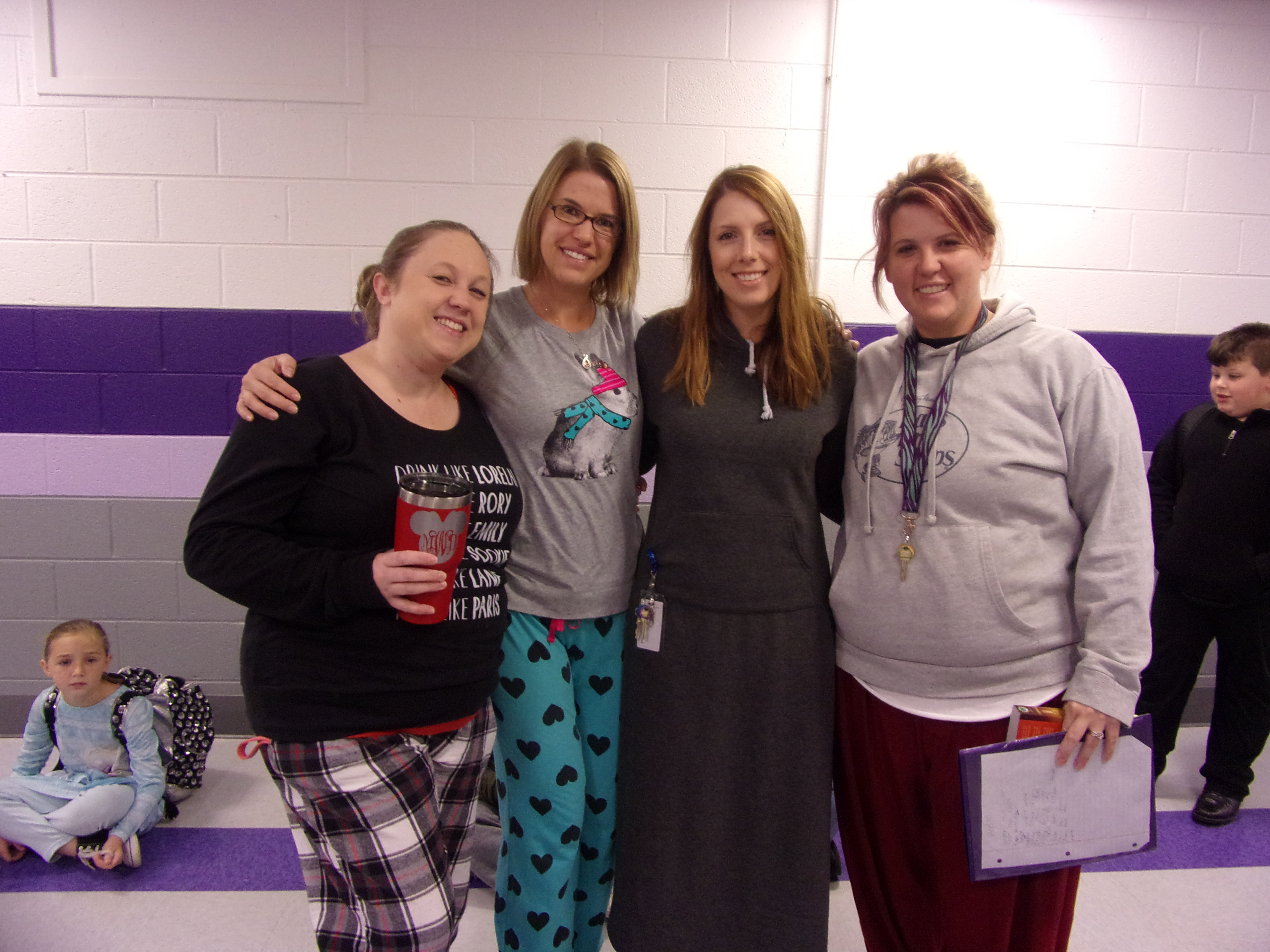 5th Grade Teachers Participating in Red Ribbon Week's PJ Day