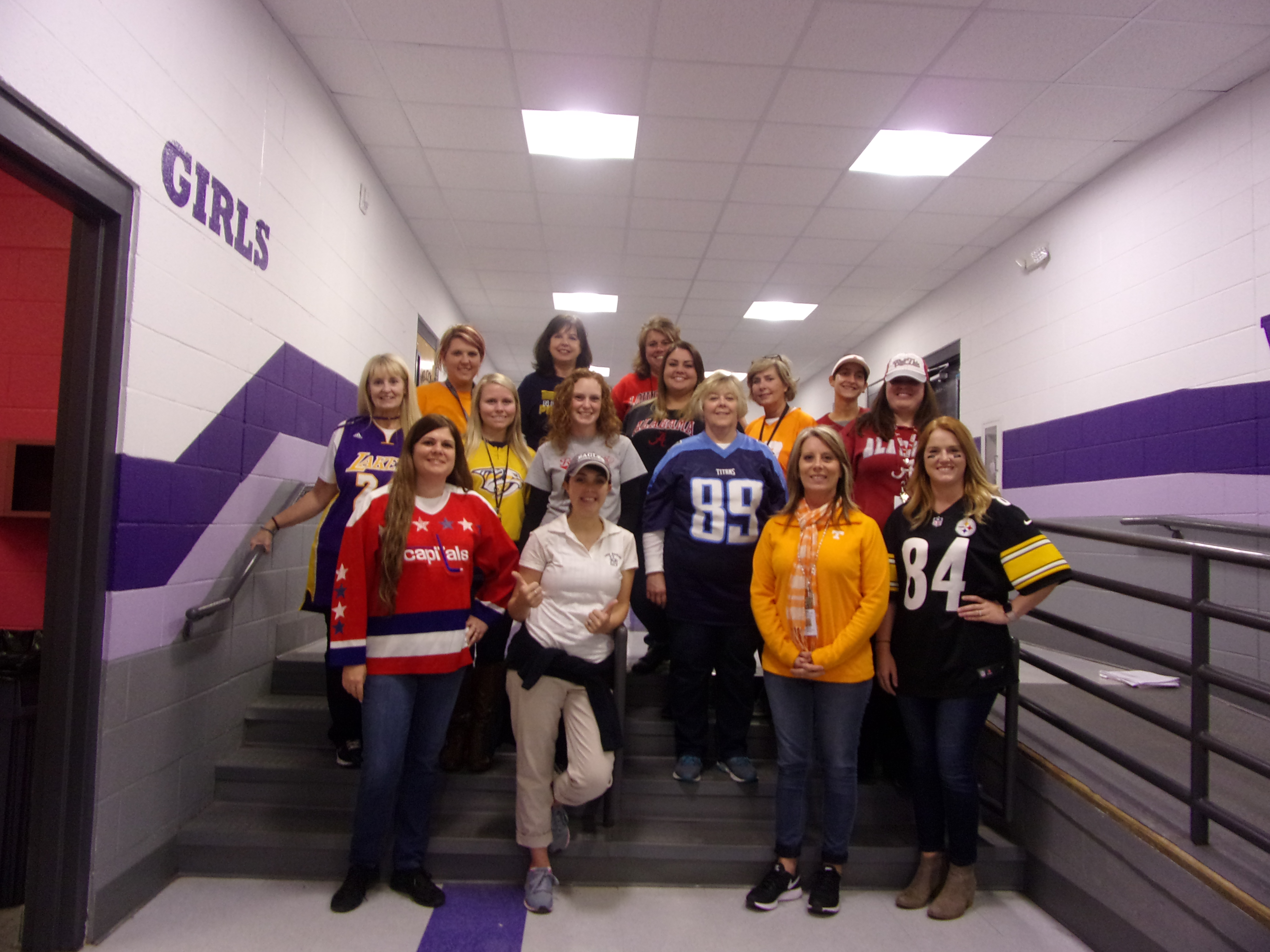 Teachers Participating in Red Ribbon Week's Sports Day
